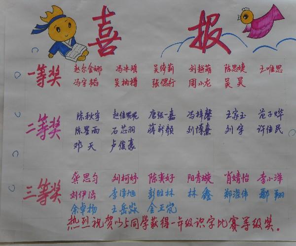 川大附小东山学校一年级组识字比赛图片