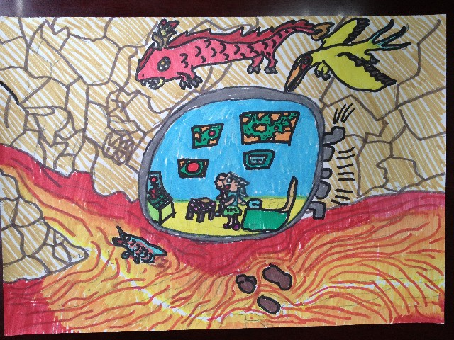 穿越未来 幻化人生——课程超市(三年级科幻画)作品
